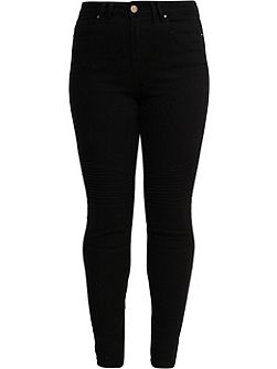 Curve Skinny Jean With Biker Styling