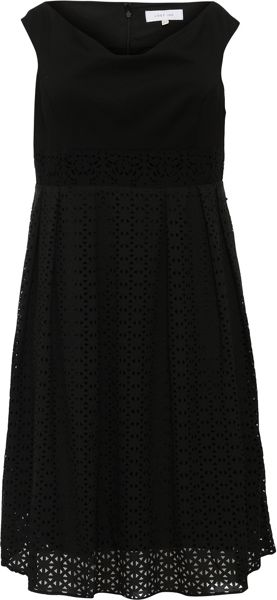 Lost Ink Curve Bardot Skater With Cutwork Skirt