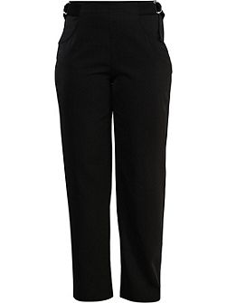 Curve Straight Leg Trouser With Tab Side