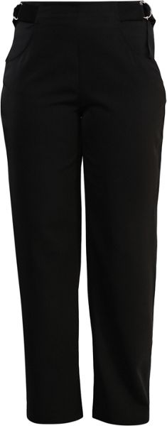 Lost Ink Curve Straight Leg Trouser With Tab Side