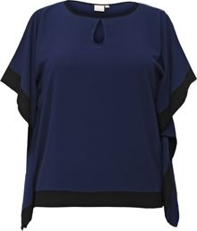 Lost Ink Curve Cold Shoulder Top With Contrast Trim