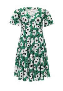 Just Joan Floral Print Skater Dress