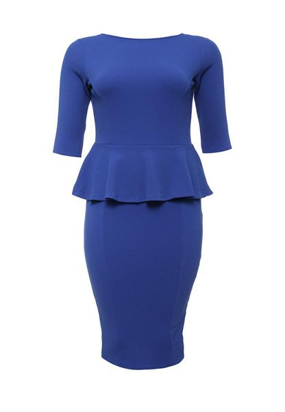 Just Joan Textured Peplum Pencil Dress