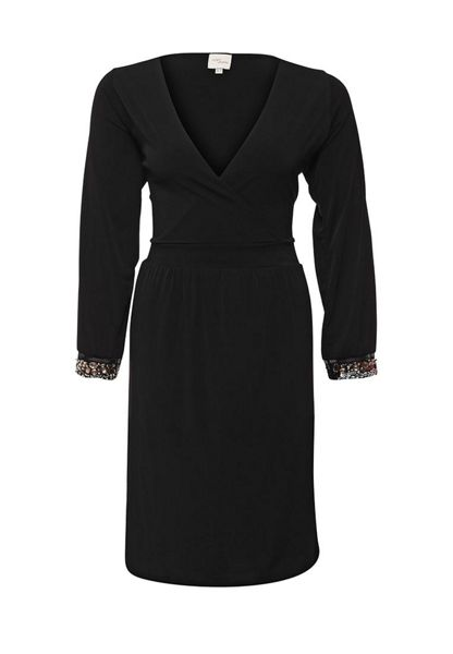 Just Joan Blouson sleeve dress with embellished cuff