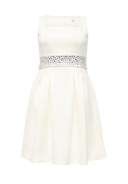 Just Joan Fit & flare dress with embellished belt