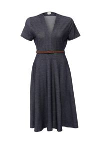 Just Joan Denim Jersey Skater Dress
