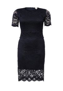 Lost Ink Curve Dress with double layer in Lace