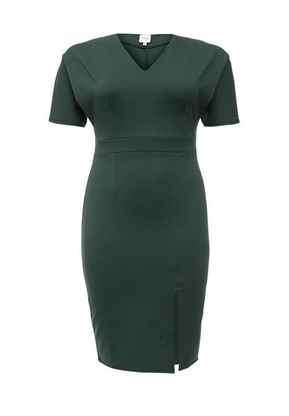 Just Joan Pencil Dress with Splirt Front