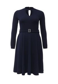 Lost Ink Curve Skater dress with keyhole