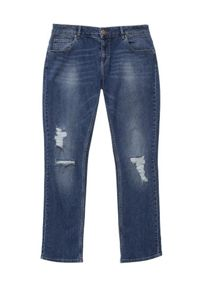 Lost Ink Curve Distressed Straight Leg Jean
