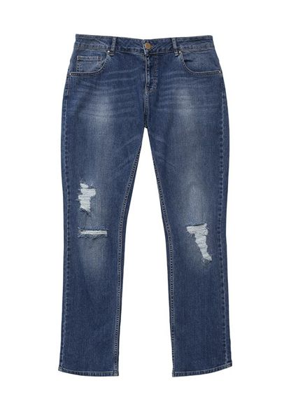 Just Joan Distressed Straight Leg Jean