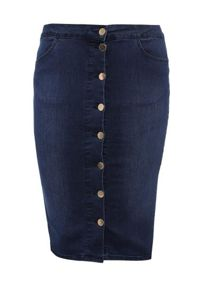 Just Joan Pencil Skirt in Denim