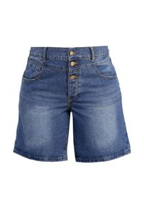 Lost Ink Curve Double Waistband Denim Short