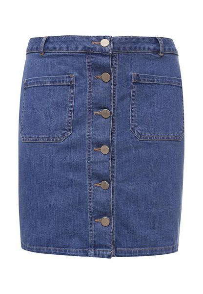 Just Joan Pocketed Denim Skirt