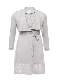 Just Joan Waterfall trench coat with lace