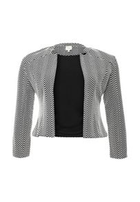 Just Joan Jacquard Blazer in Mono print