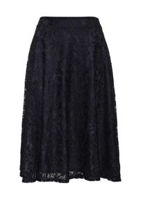 Lost Ink Curve Midi Skirt with Full Lace
