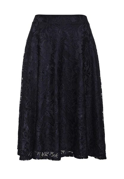 Just Joan Midi Skirt with Full Lace