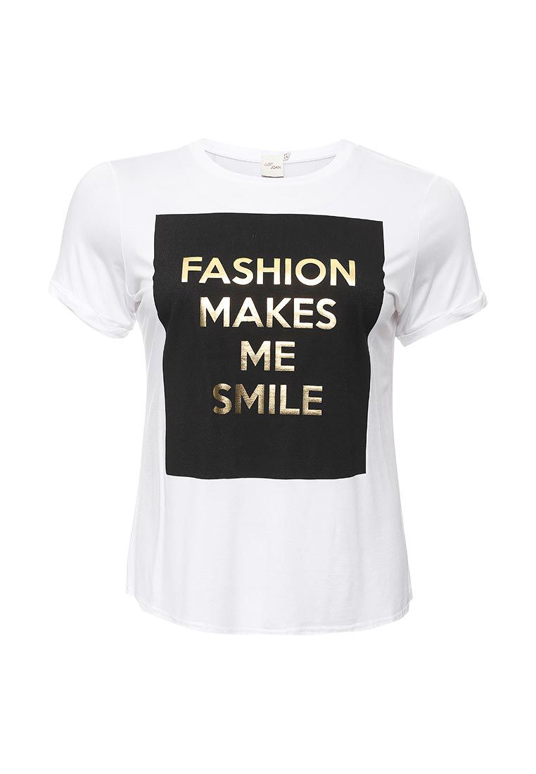Just Joan Smile Print T Shirt White