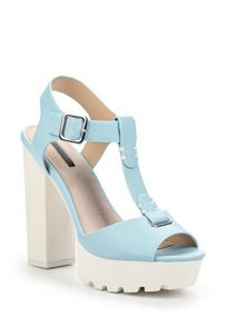 Lost Ink Rona cleated block heel platform sandals