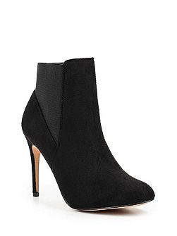 Alette round toe heeled boots