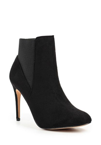 Lost Ink Alette round toe heeled boots