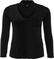 Lost Ink Curve V Neck Top With Tie Sleeves