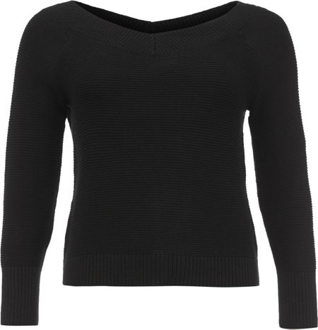 Lost Ink Curve Bardot Knitted Jumper