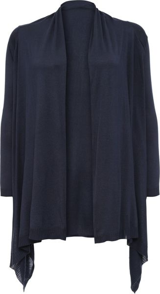 Lost Ink Curve Drape Front Cardigan