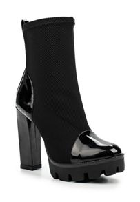 Lost Ink Ariann platform ankle sock boots