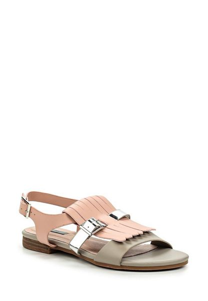 Lost Ink Neat fringed flat sandals