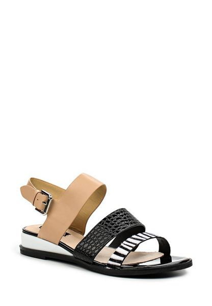 Lost Ink Nadila sports wedge flat sandals