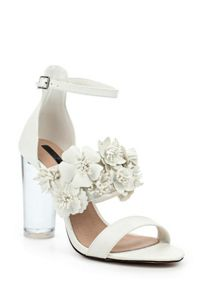Lost Ink Monika floral perspec heeled sandals