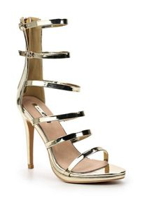 Lost Ink Martha multi strap stiletto sandals
