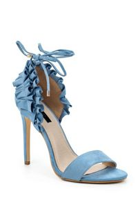 Lost Ink Maddie frilled detail heeled sandals