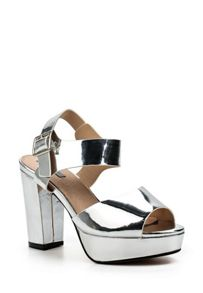 Lost Ink Maggie platform heeled sandals