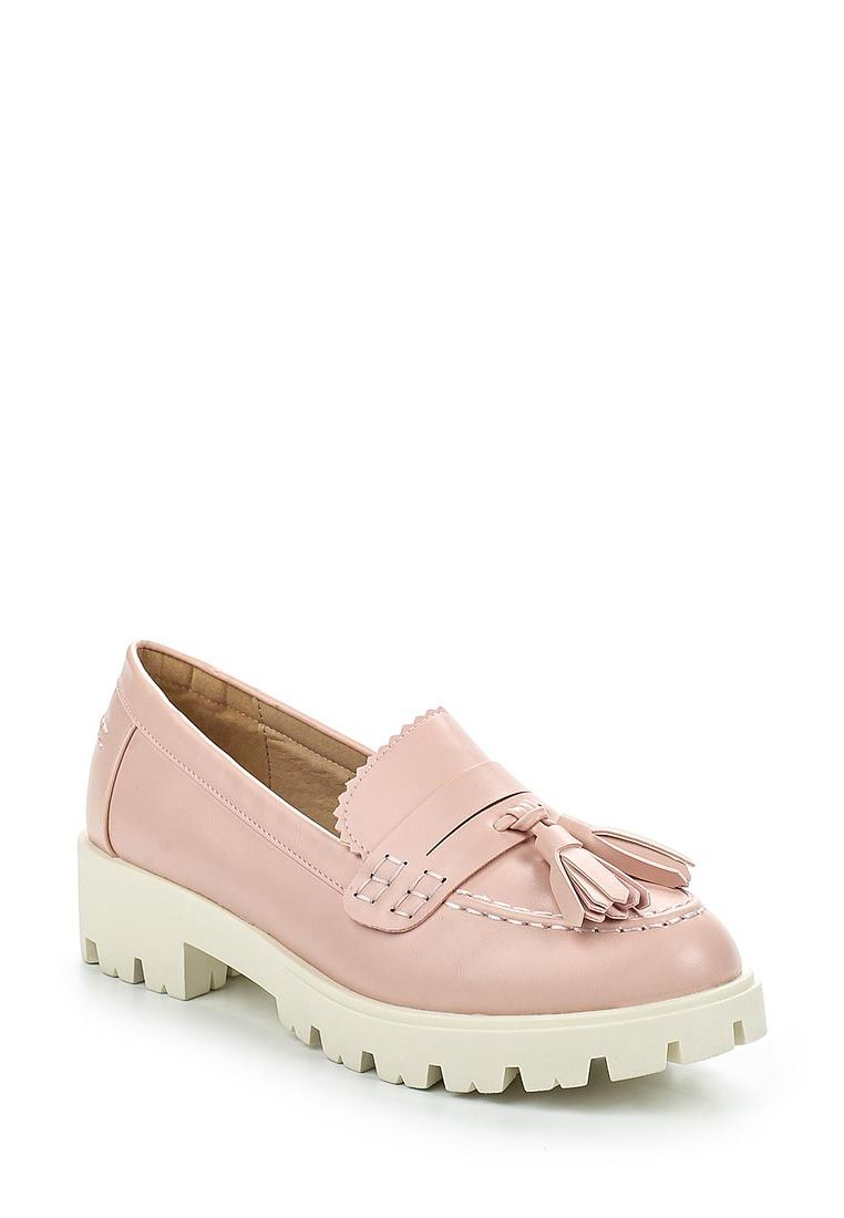 Lost Ink Haven cleated outsole flat shoes Light Pink