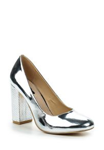 Lost Ink Fran block heeled round toe