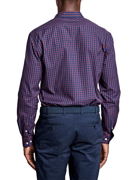 Thomas Pink Fletcher Check Classic Fit Button Cuff