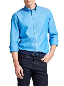 Thomas Pink Healy Check Classic Fit Button Cuff