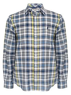 Harris Check Classic Fit Button Cuff