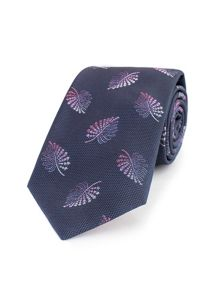 Thomas Pink Quiller Palm Woven Tie