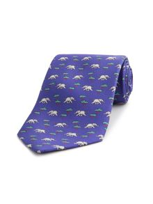 Thomas Pink Elephant & Tree Print Tie