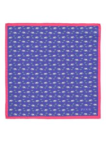 Thomas Pink Elephant & Tree Pocket Square