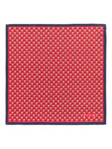 Thomas Pink Heart & Flower Print Pocket Square