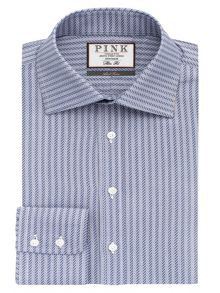 Thomas Pink Ackerman Texture Slim Fit Button Cuff