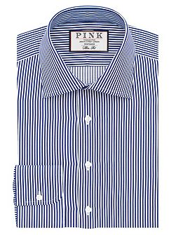 Grant Stripe Slim Fit Double Cuff Shirt