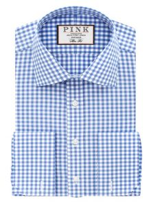 Thomas Pink Summers Check Slim Fit Double Cuff