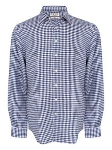 Thomas Pink Wallace Check Classic Fit Button Cuff