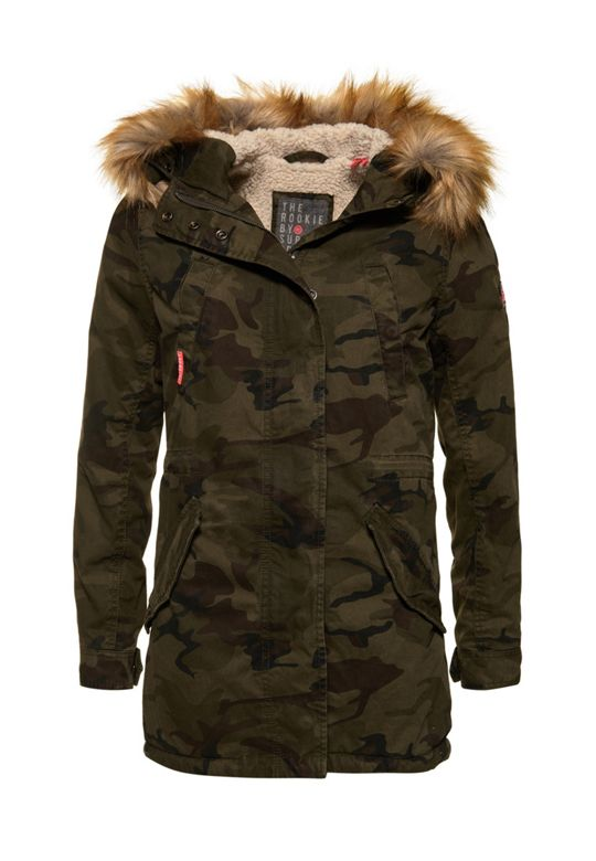 Superdry, Classic Rookie Fishtail Parka Coat
